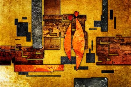 Illustrazione astratta pittura ad olio