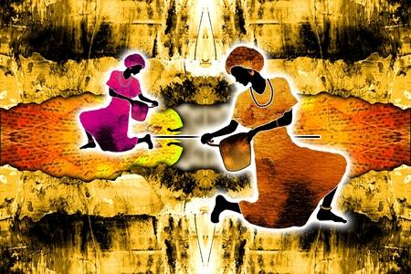 zulu: African ethnic retro vintage illustration
