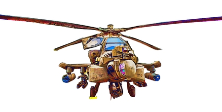 military helicopter: Military helicopter illustration