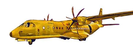 supersonic plane: Military airplane speed illustration