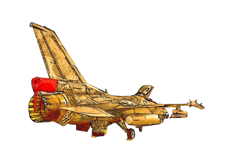 supersonic: Military airplane speed illustration