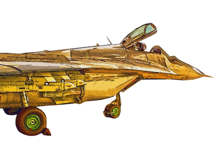 supersonic plane: Military airplane speed illustration