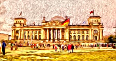 Berlin oil art illustration