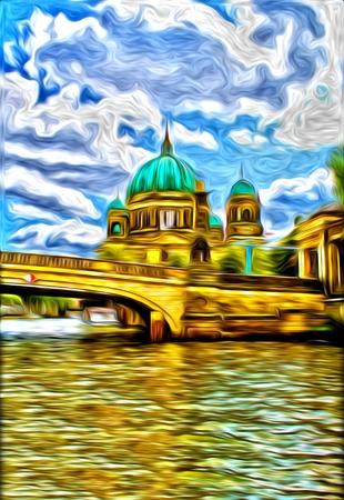 berlin: Berlin oil art illustration