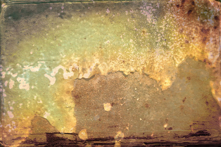 brass plate: Grungy brushed yellow metal brass plate