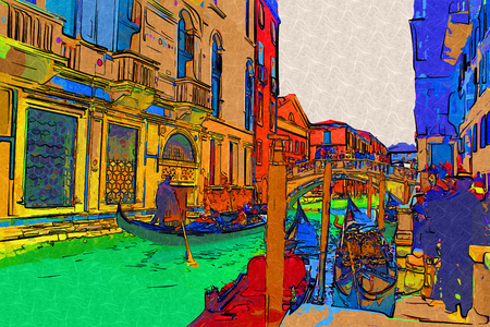 venice: Venice art illustration
