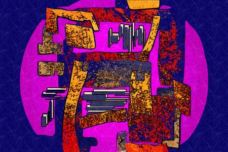 outburst: abstract color design art illustration
