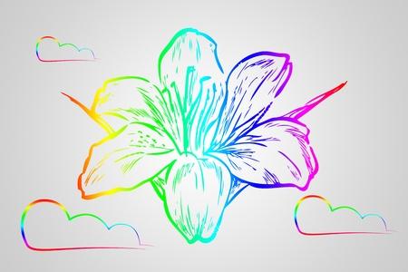 flower illustration on different background Stock Photo