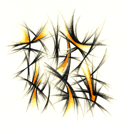 Abstract drawing black pencil with structure