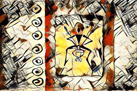 zulu: Ethnic art illustration Stock Photo