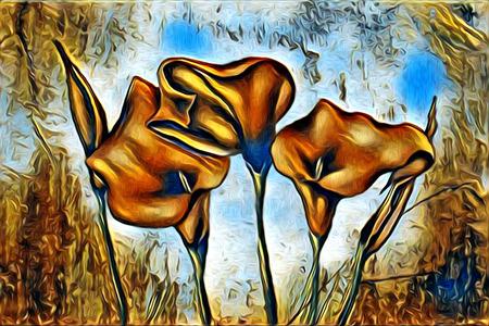 abstraction flower art illustration