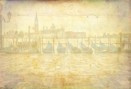 Venice art illustration texture 写真素材