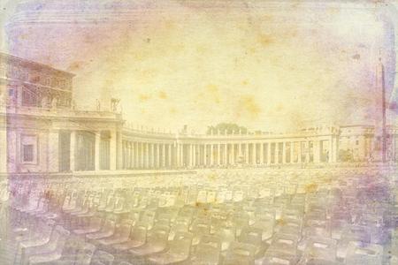 Vatican art illustration texture