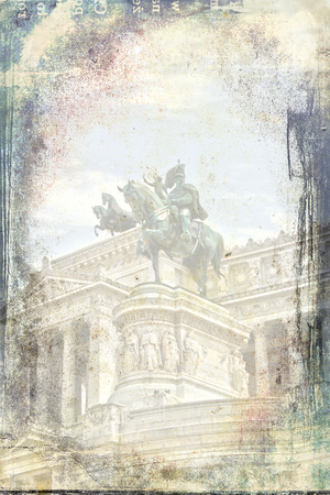 roman empire: Rome Italy art illustration texture