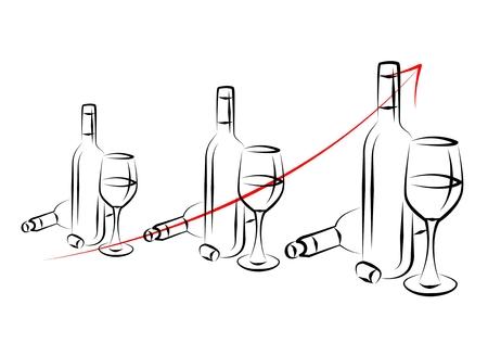 Wine art illustration on a creative background Stock Photo