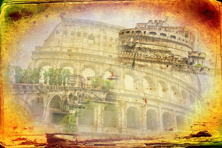 emporium: Rome Italy art illustration