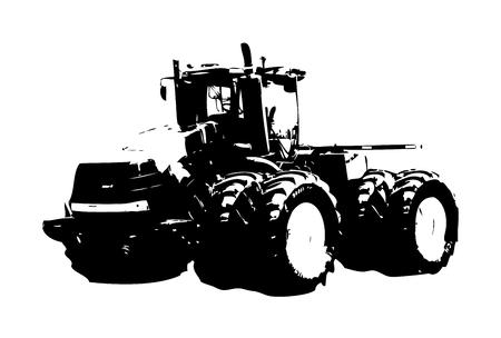 Landbouw trekker illustratie kunst