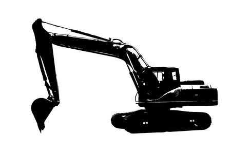 Excavator illustration isolated art work Imagens