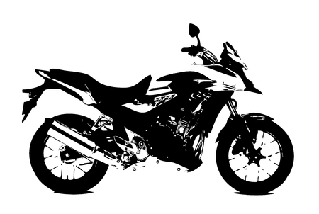 imagery: Motorcycle illustration isolated art