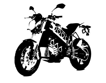 Motorcycle illustration isolated art