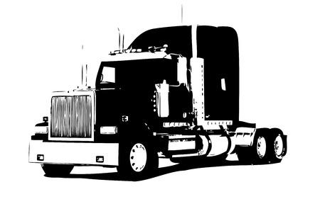 Truck illustration isolated art Stock Illustration - 80428950