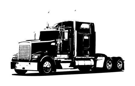 Truck illustration isolated art Stock Illustration - 80478381