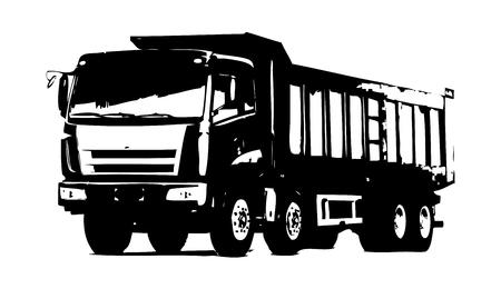 Truck illustration isolated art