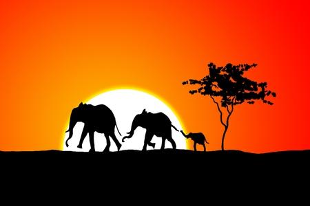 ilustración de la vendimia retro étnica africana