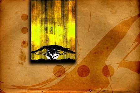 アフリカの民族のレトロなビンテージ イラスト