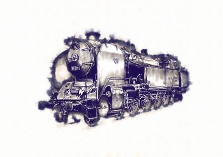 古い蒸気機関車レトロ ビンテージ