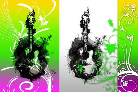 music abstract color design art illustration