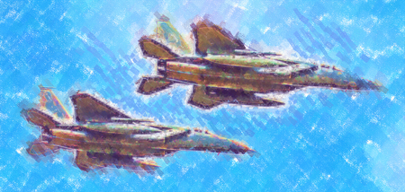 Military airplane speed art design