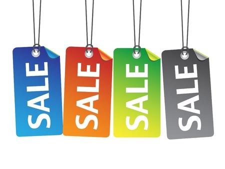 Colorful sale tags vector illustration Illustration