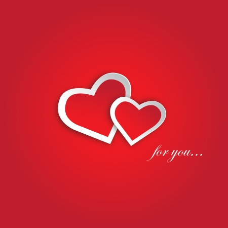 red hearts, the vector illustration available in EPS JPEG formats Illustration