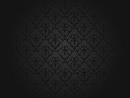 Luxury black floral wallpaper illustration