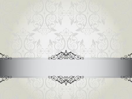 Luxury floral wallpaper illustration Stock Vector - 18147449