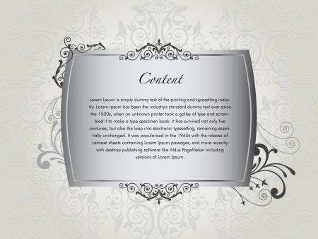 Luxury floral invitation card Illustration