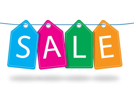Colorful sale tags illustration in JPEG formats