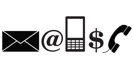 Set of 5 icons illustration
