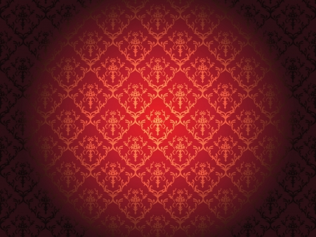Luxury floral wallpaper with scroll Illustration Illustration