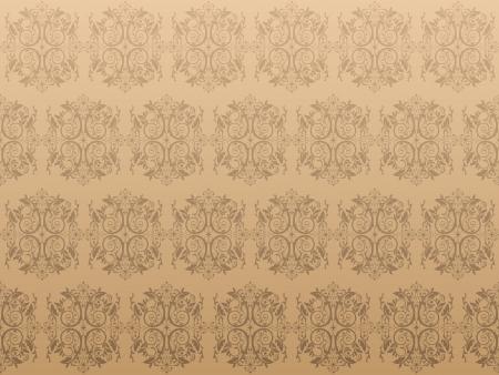 Luxury brown floral wallpaper Illustration