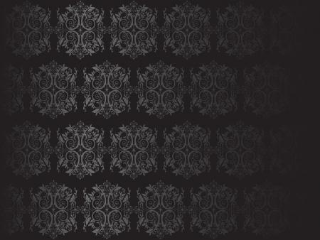Luxury black floral wallpaper