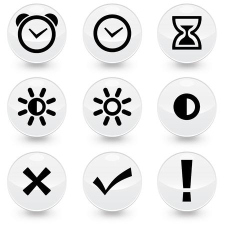 Set of 9 illustrator icons Illustration