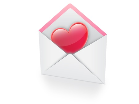 heart in email vector illustration Stock Vector - 18457676