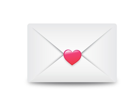 email envelope sealed with heart vector illustration background, can be scaled to any size without loss of resolution. This image will download as a jpeg & eps format. Stock Vector - 18457678