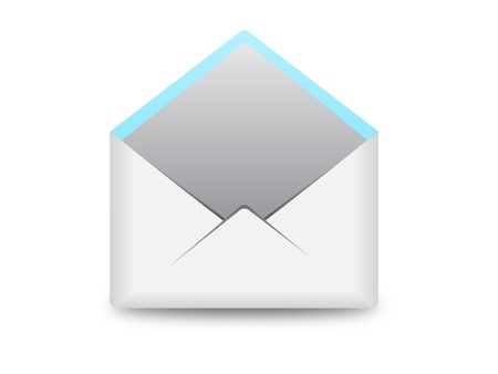 empty open envelope vector illustrator icon image can be scaled to any size without loss of resolution. Stock Vector - 18457691