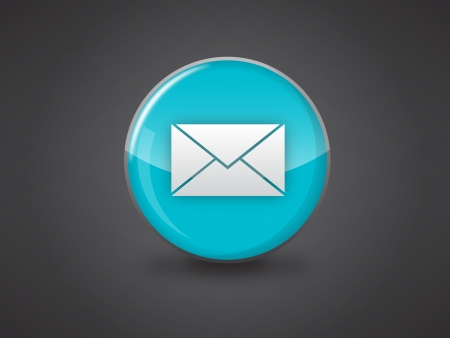 email icon on blue glossy circle vector illustration on dark grey background, this image available in jpeg and eps formats Stock Vector - 18512359