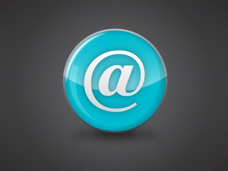 at email icon on blue glossy circle vector illustration on dark grey background, this image available in jpeg and eps formats Stock Vector - 18512348
