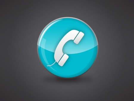 phone icon on blue glossy circle vector illustration on dark grey background, this image available in jpeg and eps formats Stock Vector - 18512347