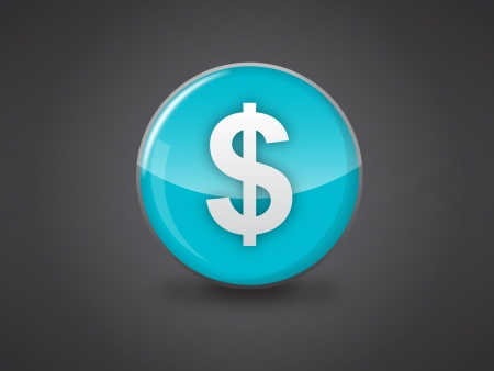 us dollar blue glossy icon vector illustration on dark grey background, this image available in jpeg and eps formats  Illustration